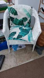 Wicker chair painted white