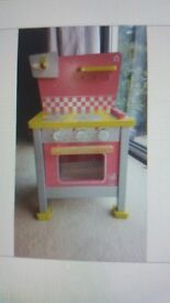 Chef bake wood play oven cooker