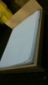 Ikea malm king size bed with clean mattress