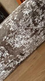 8ft champagne crushed velvet pelmet