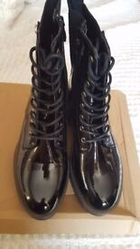 Doc Martin Style Ladies black boots size 4 - New never worn with box