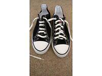 Black Converse Shoes Size 5.5