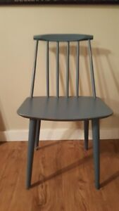 Mid Century Danish Blue Chair With Removable Legs