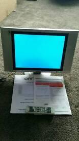 15inch LCD ONN TV with Tecknica Eco 2STNA08 Digital Receiver