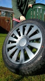 "4 Reconditioned 19"" Audi Alloys Graphite Grey, 4 x brand new tyres"