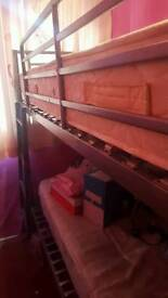 silver metal bunk bed very good condition