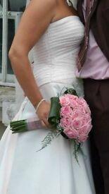 Beautiful blush Swarovski crystal wedding dress for sale