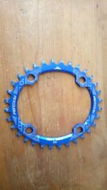 Narrow wide oval chainring.