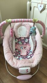Pink comfort and harmony vibrating/music chair