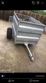 Galvanised farm trailer