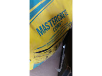 Open 25kg Bag of Mastercrete Cement