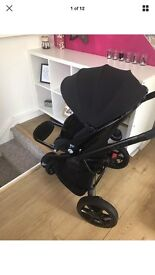Quinny Moodd pushchair with carrycot and accessories