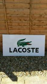 Lacoste perspex sign/poster