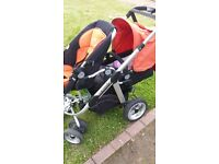 I CANDY DOUBLE PUSHCHAIR GREAT CONDTION