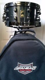 Mapex black panther 14x6.5 premium maple snare drum + case