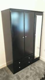 Wardrobe 3 door + chest + bedside