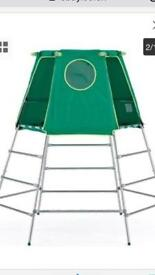 Climbing frame with tent