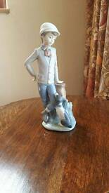 Nao by Lladro figurine. Boy with dog