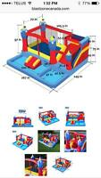 Bouncy house water park for rent 100 $ (24 hrs)