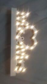 MR & MRS light up wooden sign