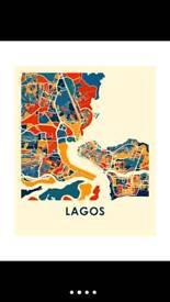 Nigerian Lagos map