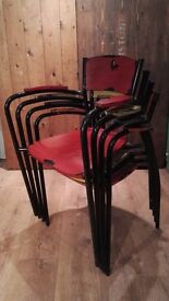 1 x Funky Painted Stacking School Chair - 22 Available
