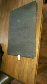 Next unused black/charcoal sparkling place mats x4