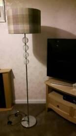 Floor lamp tartan shade