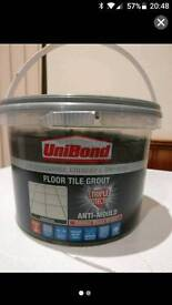 Charcoal floor grout