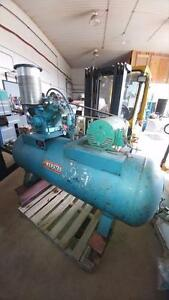 Webster Air Compressor, 10 HP, 460/230 Volts, 3 Phase with 100 gal tank