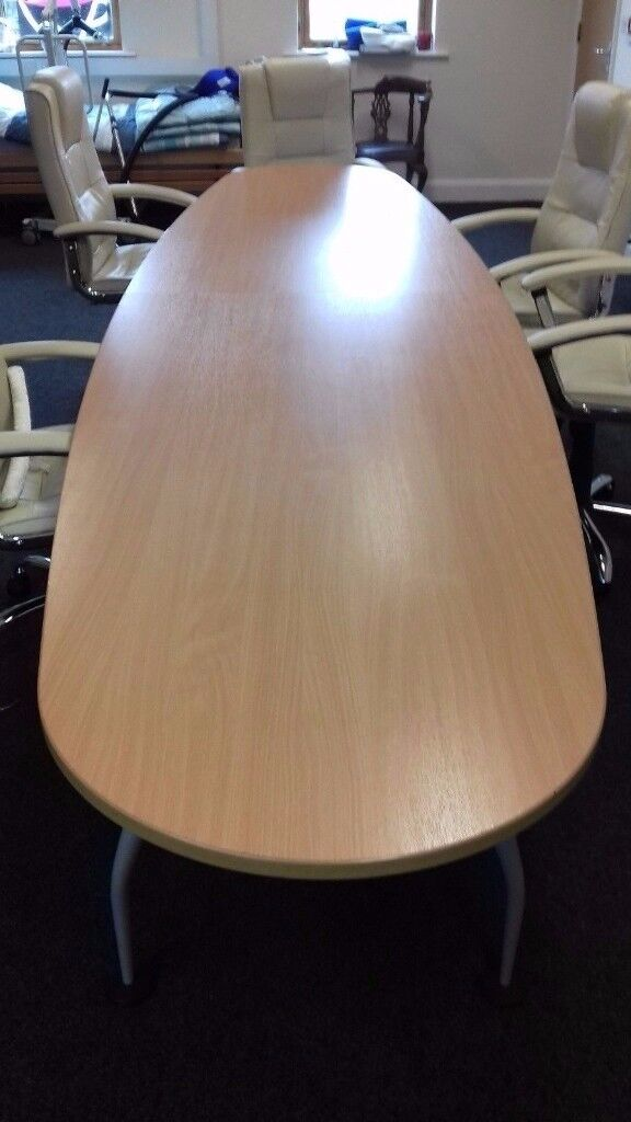 Large Oval Wooden Boardroom Meeting Conference Table Office - Large wooden conference table