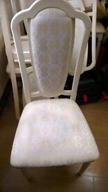 6 Cream dining chairs - USED