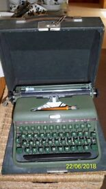 Vintage Halda Portable typewriter - purchased mid 1950's