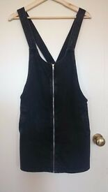 Black Dungaree Dress (size M)