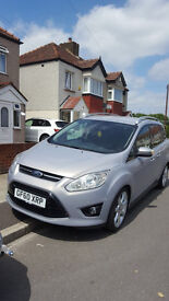 Ford C-Max Grand 7 Seater Silver. Excellent Condition