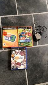 PlayStation 2 Eye Toy games and camera