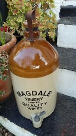 Magdale Vinery Ltd Quality Wines Flagon with Handle, Stopper and Tap