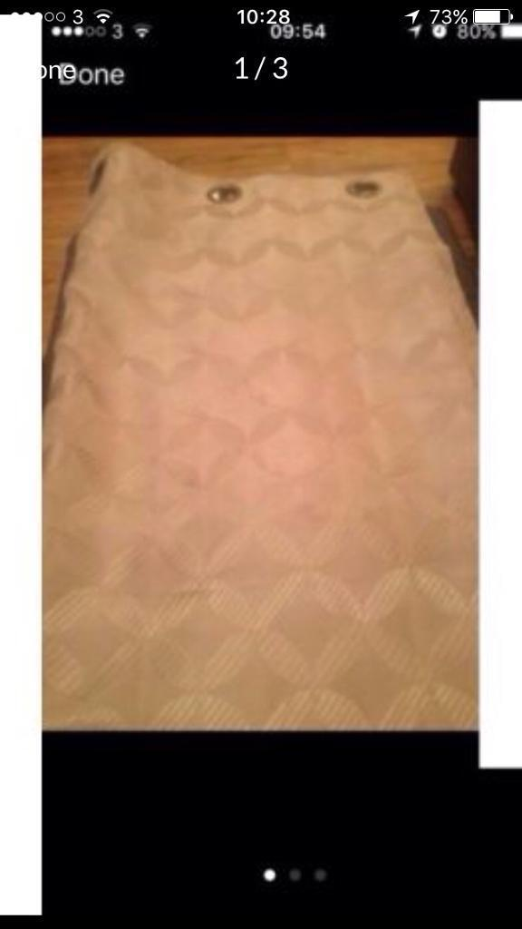 Gold heavy lined curtains 90x72