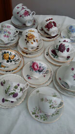 Bone China cups, saucers and plates (18Trios)