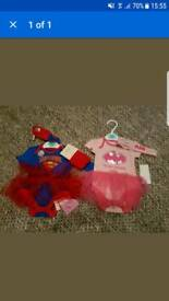 Newborn Batgirl and Supergirl outfit / costume