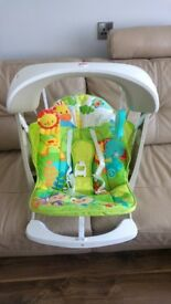 Fisher price rainforest vibrating Swing Take Along Rocking Baby Bouncer Chair