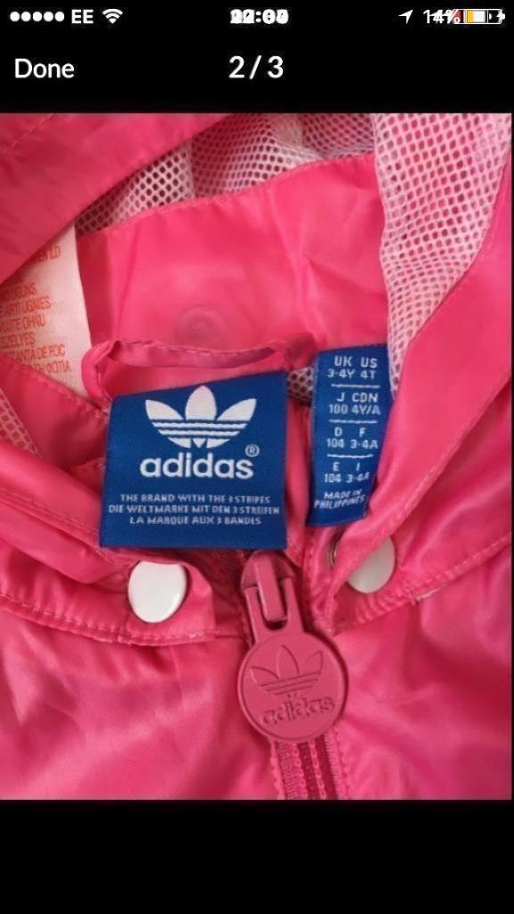 Adidas jacket girls age 3-4