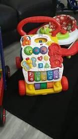 Baby walker building block trolley