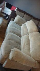 Large 3-1 seater buoyant sofas