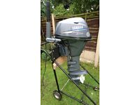 Yamaha 20 hp four stroke long tiller/remote electric start outboard motor 2010 excellent condition