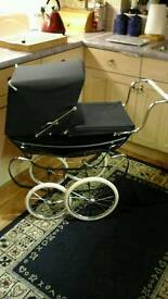 Silver Cross coach built dolls pram