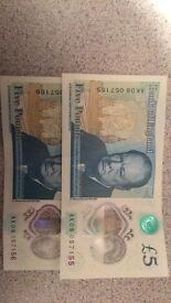 £5 note AK08 Series