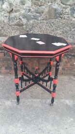 *** HAND PAINTED FURNITURE *** Trick Of The Eye Card Table