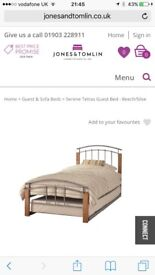 Trundle bed single but converts to double