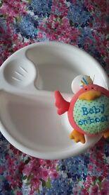 Babies wash bowl & Car sign